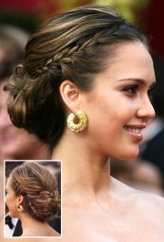 prom hairstyles side bun