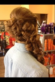 prom hairstyles side