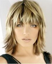 long bob with razored ends
