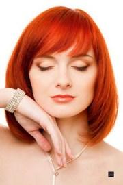red medium length hairstyles