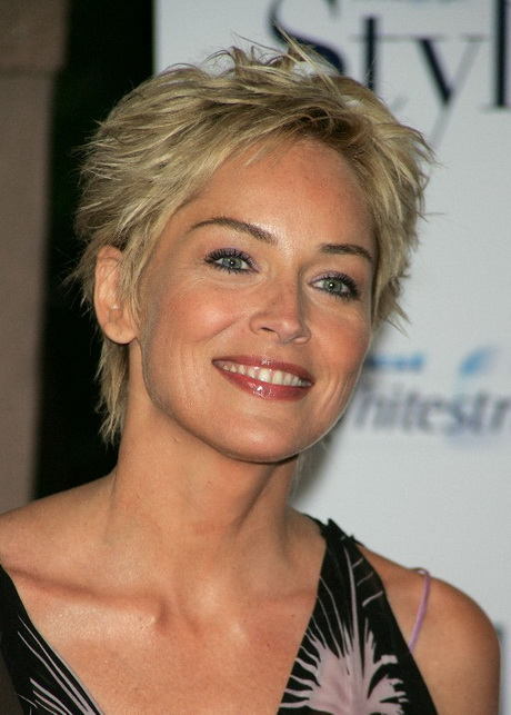 Sharon Stone Pixie Haircut