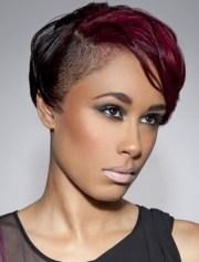 shaved hairstyles black women