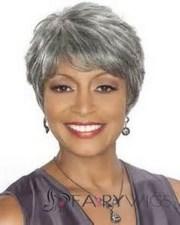 short haircuts gray hair