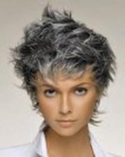 short haircuts grey hair