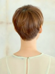 short haircuts front and view