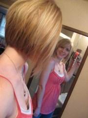 front view of short haircuts long