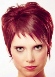 short red hairstyles women