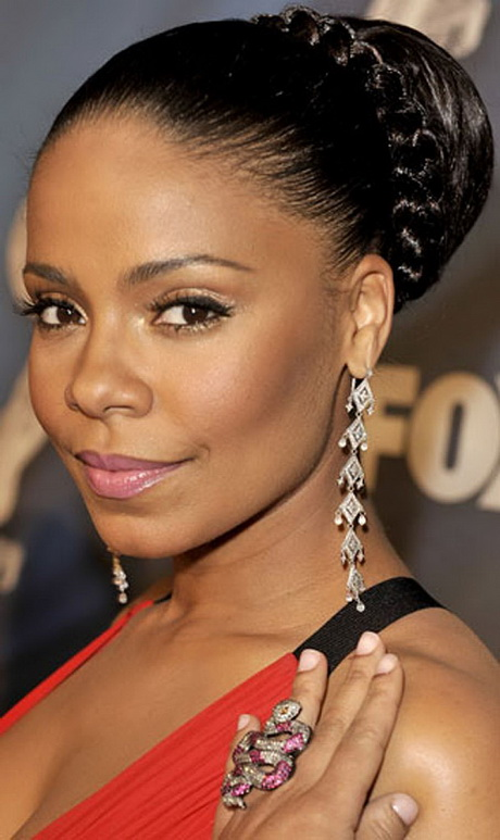Updo braided hairstyles for black women