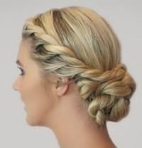 Wedding hair plaits