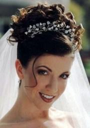 wedding hair updos with veil