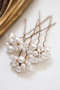 Wedding hair pins pearl