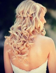 wedding hair with braids and curls