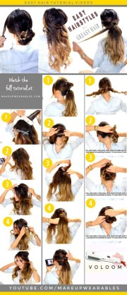 hairstyles updos easy school