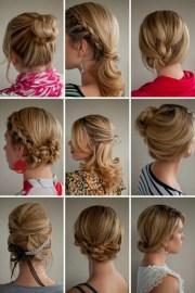 hairstyles updos medium length