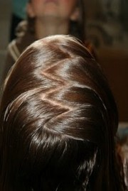 hairstyles zig zag part