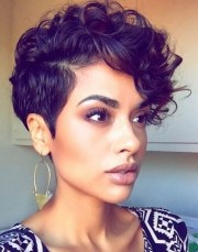 black short curly hairstyles 2017