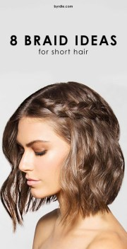 easy braided hairstyles short