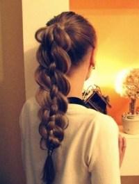 Thick braided hair
