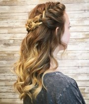 ball hairstyles medium hair