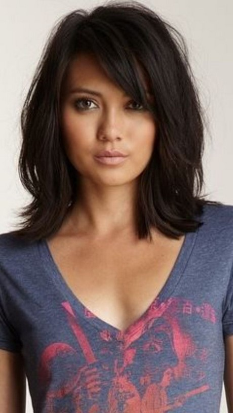 Pictures of shoulder length haircuts with bangs