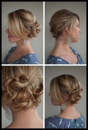 casual updos long thick hair