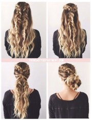 cute braided hairstyles long
