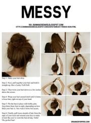 cute easy buns thick hair