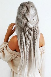 easy braids long thick hair