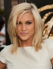 medium length hairstyles bangs