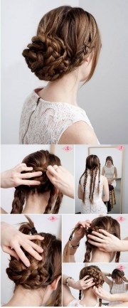 quick easy updos long thick