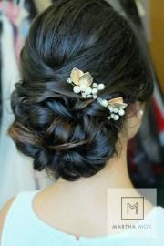 updos long thick hair wedding