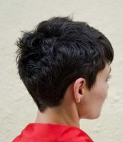 view of pixie haircut