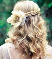 Hairstyle on wedding day