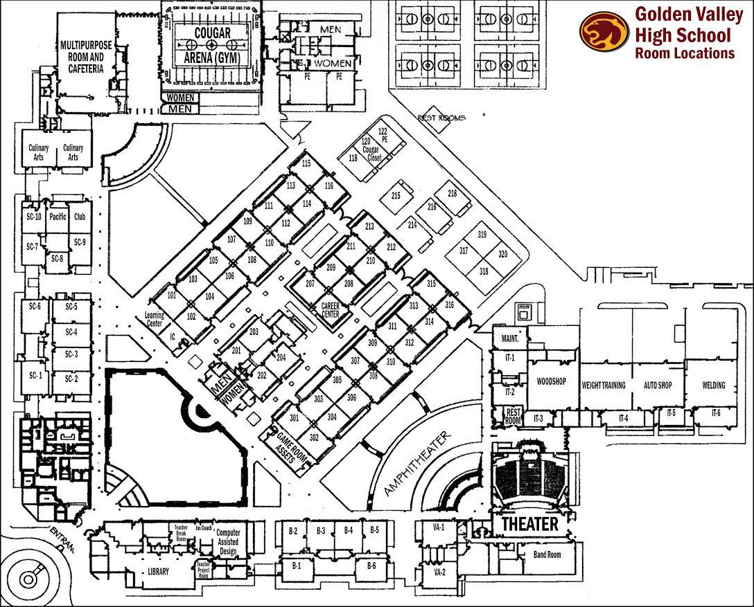 hight resolution of school map