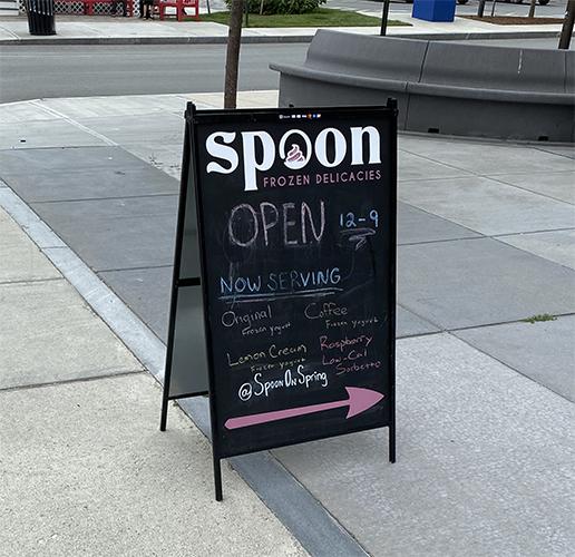 Chalkboard A-Frame Sandwich Board Sign
