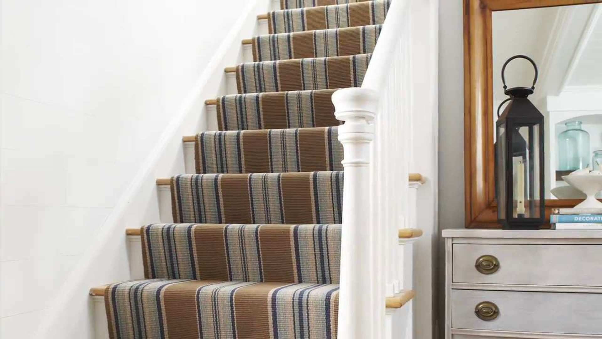 Stair Runner Carpet Learn How To Install One In 6 Steps This | Thin Carpet For Stairs | Area Rug | Grey | Stair Runners | Flooring | Hallway