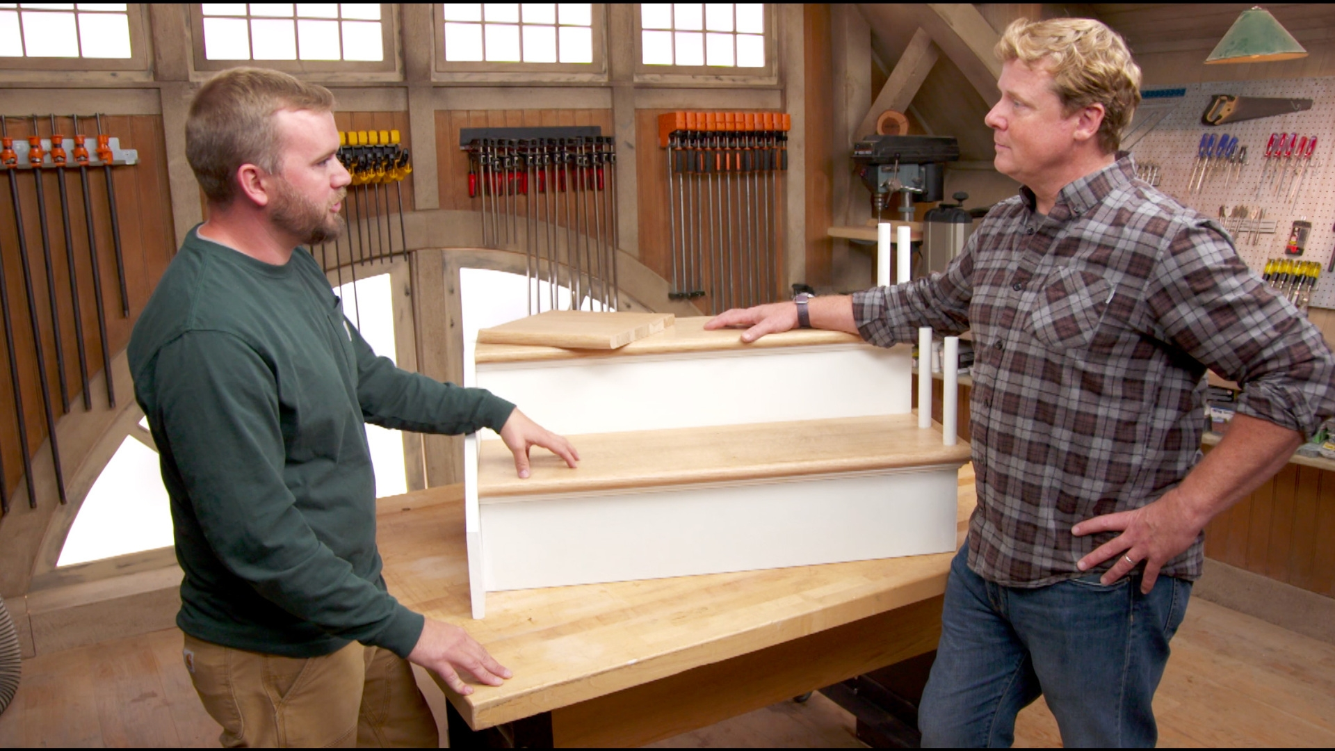 How To Refinish Worn Out Stair Treads This Old House | Live Edge Stair Treads | Stained | Build In Bench | Douglas Fir | Dark Risers | Barnwood
