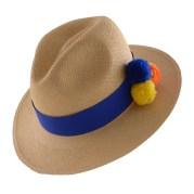 PomPom Hat-Blue-I-Angle