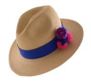 PomPom Hat-Blue-II-Angle