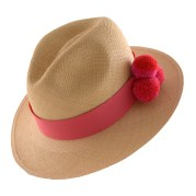 PomPom Hat-Pink-I-Angle