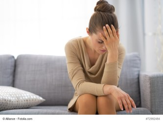 Woman stressed in Penfield, NY