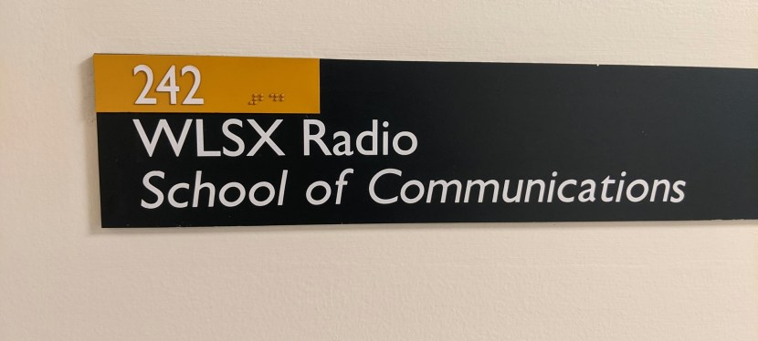 """""""The X"""" Marks the Spot. New Student AM Radio Station."""