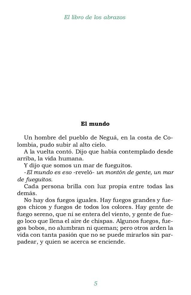 """El mundo. Eduardo Galeano en """"El Libro de los abrazos(1989)"""""""