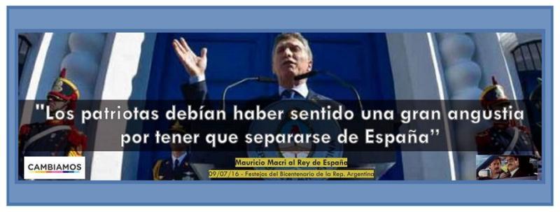 Cristina Kirchner: Macri Patria