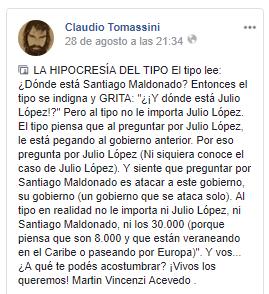 20170909 - Santiago Maldonado - Hipocresia