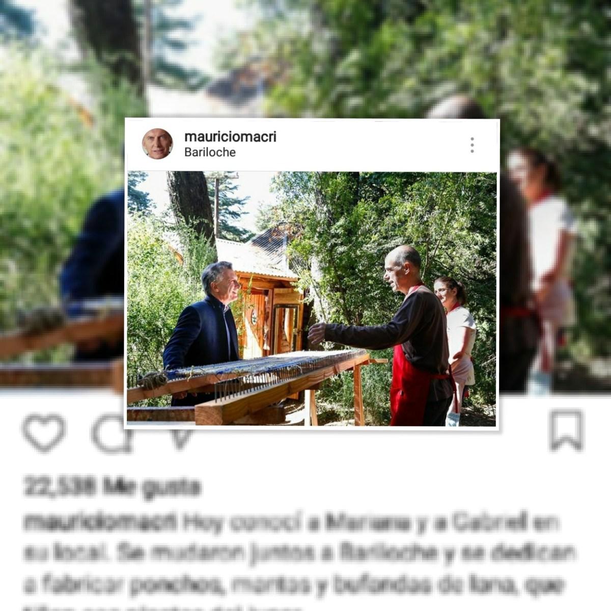 Macri subió una foto y la gente estalló en su contra.