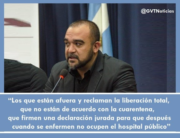 Intendente Villa Mercedes firmen una declaración jurada para que cuando se enfermen no ocupen el hospital público