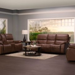 Futura Leather And Vinyl Power Reclining Sofa With Headrest In Stone Grand Scale Roll Arm Slipcovered Juno Living Room Collection Mustang Sofas From 1 999 99 We Pay Your Tax