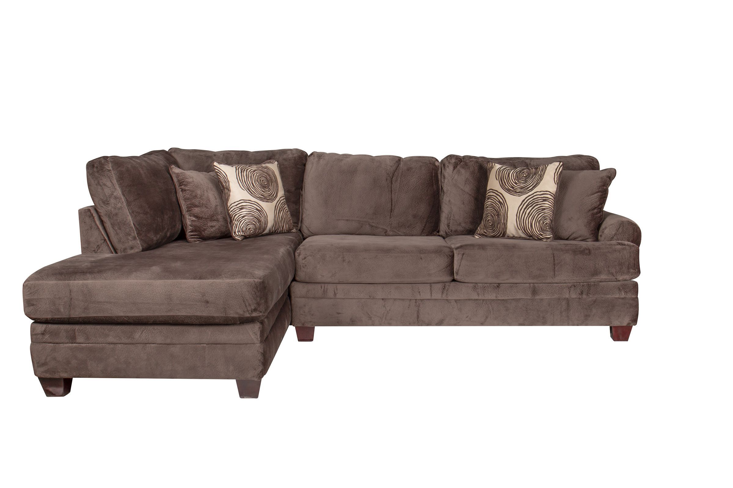 channing microfiber sectional with chaise on the left