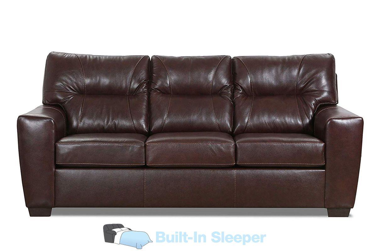 Corbin Leather Queen Sleeper Sofa At Gardner White